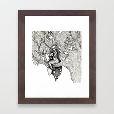 WOODLAND FAE Framed Art Print