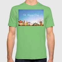 Oh Happy Day Mens Fitted Tee Grass SMALL