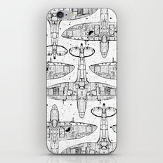 Spitfire Mk. XIV (black) iPhone & iPod Skin