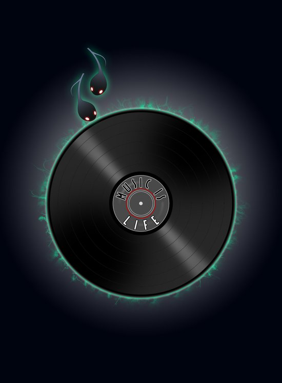 music is... life Art Print
