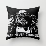 Fallout 3 War Never Chan… Throw Pillow