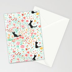 Lucky Cat Garden Stationery Cards