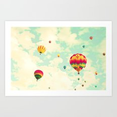 Mint Sky To Fly In Art Print