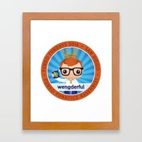 wengderful Framed Art Print