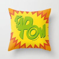 KAPOW Throw Pillow