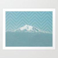 Portland Snowcaps Art Print