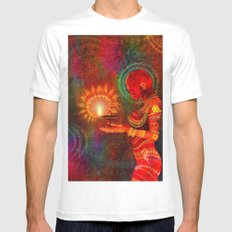 Festival of Lights Mens Fitted Tee SMALL White