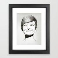 Women black & white Framed Art Print