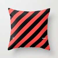Infrared Lines / Black Throw Pillow