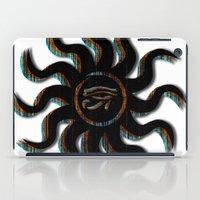 Orange Egyptian Sun iPad Case