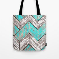 SHORELINE CHEVRONS (1 of 3) Tote Bag