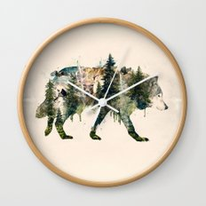 Wolf is the Pride of Nature Wall Clock