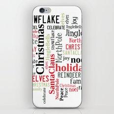 Christmas typography iPhone & iPod Skin