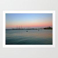 Bay area sunset  Art Print