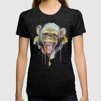 monkey Womens Fitted Tee Tri-Black SMALL