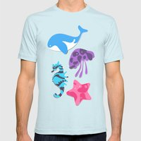 Oceania Mens Fitted Tee Light Blue SMALL