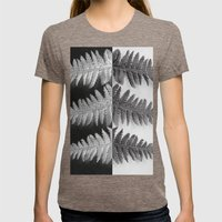 OPPOSITES LOVE - Ferns love Womens Fitted Tee Tri-Coffee SMALL