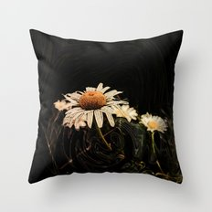 Camomile in pattern Throw Pillow