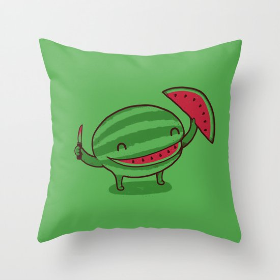A Happy Slice of Life Throw Pillow