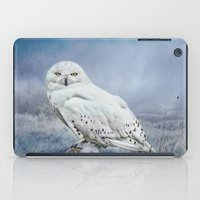 Snowy Owl In Mist iPad Case