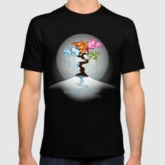 The Four Seasons Bubble Tree SMALL Mens Fitted Tee Black