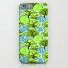 Retro Trees, in blue and green iPhone 6 Slim Case