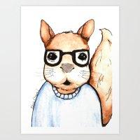 Squirrel, The Intellectu… Art Print