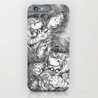 iPhone & iPod Case featuring Petite Astronauts  by Alexandra Davidoff