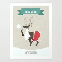 Happy New Year - A New S… Art Print