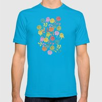 ROSES Mens Fitted Tee Teal SMALL