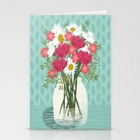 Vase Of Daisies Floral F… Stationery Cards