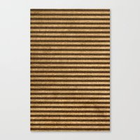 Canvas Print featuring Striped Burlap by Travis Weerts