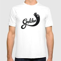 Golden! Mens Fitted Tee White SMALL