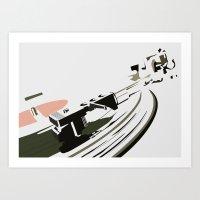 VINYL TURNTABLES Art Print
