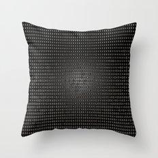 Black Dot Matrix Throw Pillow