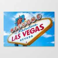 Welcome To Fabulous Las … Canvas Print