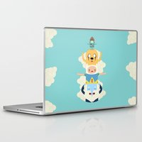 adventure Laptop & iPad Skins featuring Adventure Totem by Daniel Mackey