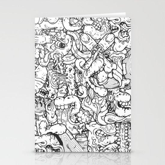 Alphabetcha Collage b&w Stationery Card