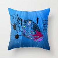 John 8/44+TheFish Nonran… Throw Pillow
