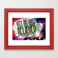 Defy the Limits You Have Believed About Yourself Framed Art Print