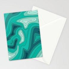 ocean dephts map Stationery Cards