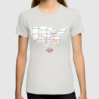 Interstate Womens Fitted Tee Silver SMALL