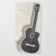 Guitar Beach Towel