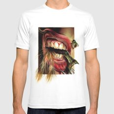 Animal Tomb  Mens Fitted Tee SMALL White