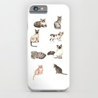 For cat lovers - watercolor of different cat breeds iPhone 6 Slim Case