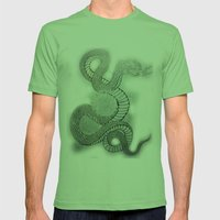Snake In The Garden Mens Fitted Tee Grass SMALL