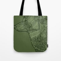 Enthusiastic Wolf Tote Bag