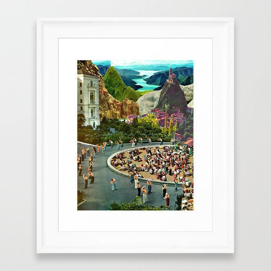 City Center Framed Art Print