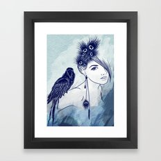 Parrot Girl Framed Art Print