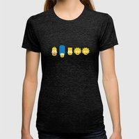 The Simpsons Womens Fitted Tee Tri-Black SMALL